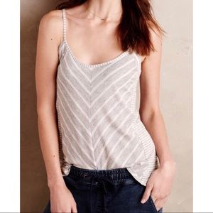 Anthropologie | Puella Grey And White Striped Tank